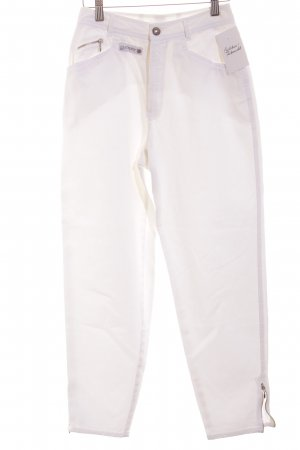 Rosner High-Waist Hose weiß 80ies-Stil