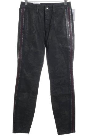 Rosner High Waist Jeans schwarz-silberfarben Rockabilly-Look