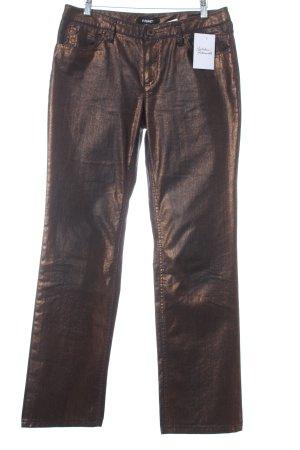 Rosner Hose bronzefarben-schwarz Metallic-Optik