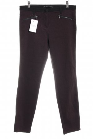 Rosner Low-Rise Trousers black-bordeaux houndstooth pattern casual look