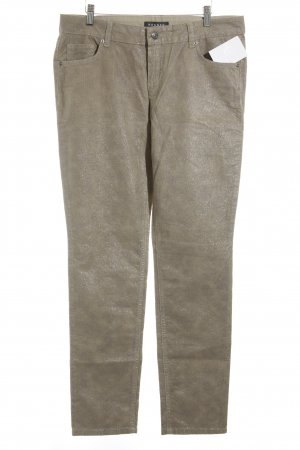 Rosner Peg Top Trousers sand brown-grey animal pattern extravagant style