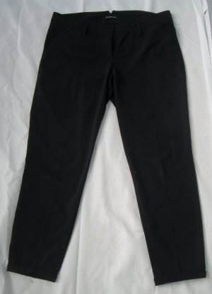 Rosner: Schwarze Bundfaltenhose / Stoffhose / Anzughose (42)