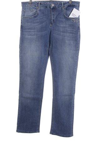 Rosner Slim Jeans blau Glitzer-Optik