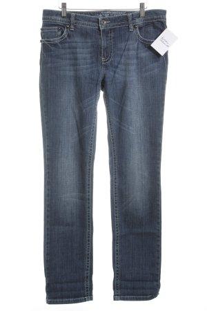 Rosner Straight-Leg Jeans blau-weiß sportlicher Stil