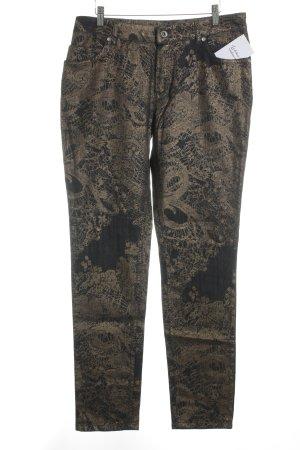 Rosner Straight-Leg Jeans dunkelblau-bronzefarben abstraktes Muster Elegant