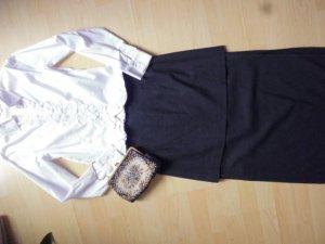 Rosner Wool Skirt black-taupe mixture fibre