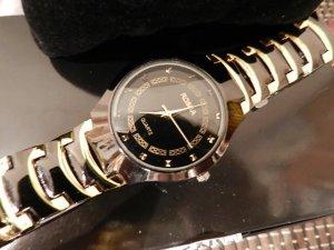 Montre avec bracelet métallique doré-noir bronze