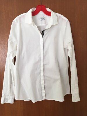 Rossana Diva - edle weiße Bluse mit Perlenzierknopfleiste