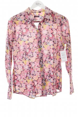 rossana diva Hemd-Bluse abstraktes Muster extravaganter Stil