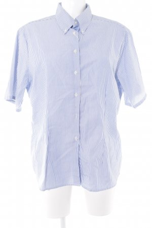 rossana diva Kurzarmhemd weiß-himmelblau Streifenmuster Casual-Look