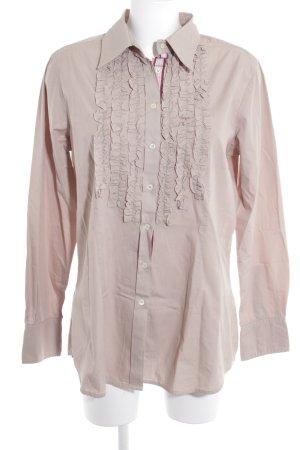rossana diva Chemise à manches longues beige élégant