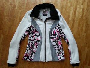 Rossignol Emilio Pucci Damen Softshell Jacke Selva weiß schwarz grau pink Ski M