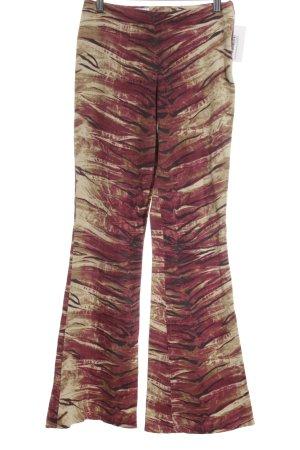 Rossodisera pantalón de cintura baja estampado con diseño abstracto