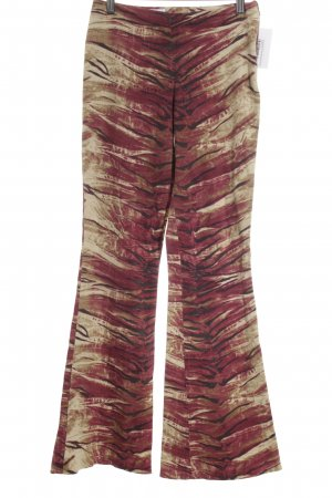 Rossodisera Lage taille broek abstract patroon casual uitstraling