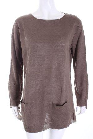 Rossopuro Longshirt graubraun schlichter Stil