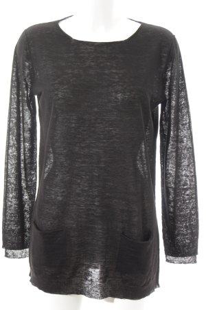 Rossopuro Lang shirt zwart simpele stijl