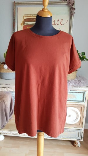 Jaqueline de Yong Shirt Tunic cognac-coloured