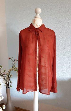 rost-rote, durchsichtige Bluse, Tunika von Fräulein Stachelbeere (Cyroline)