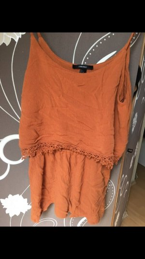 Rost roter Sommer jumpsuit