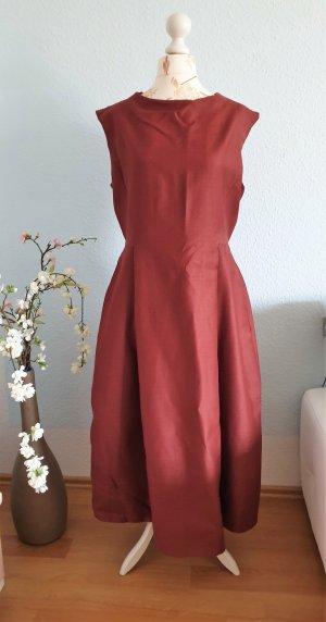 rost-rotes Maxikleid, elegantes Kleid, Ballkleid von COS