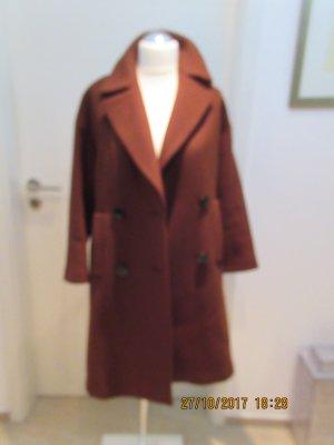 Rostbrauner warmer Mantel von Zara Studio einmal  getragen in Groesse M
