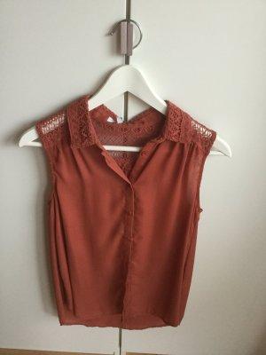 Rostfarbene Bluse von New Look