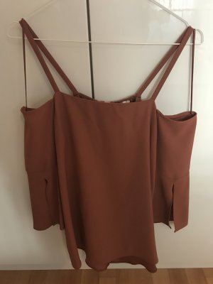 River Island Top cut out bermejo-coñac