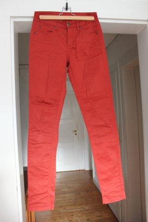 Selected Femme Hoge taille broek roodbruin Katoen