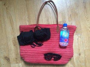 Rostrote strandtasche von H&M