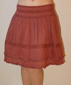 Promod Circle Skirt carmine-brick red cotton