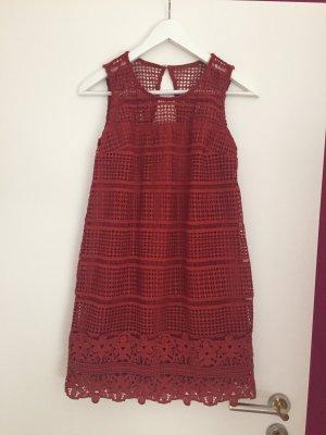 Abercrombie & Fitch Mini vestido bermejo-rojo oscuro