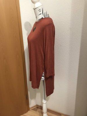 Camisa larga carmín