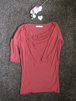 Only Cowl-Neck Shirt russet cotton