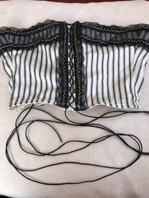 Corsage blanc-noir