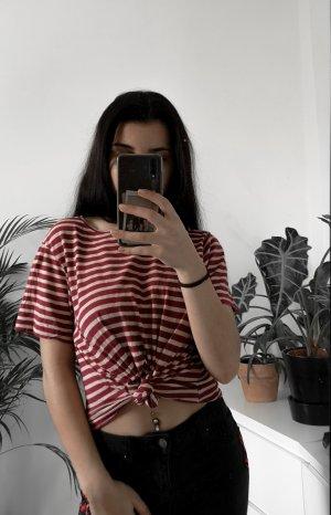rot/beige gestreiftes T-Shirt