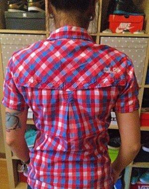 Rot/blau karierte Jack Wolfskin Bluse S