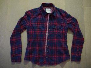 Rot-blau kariertes Abercrombie Kids Hemd, XL