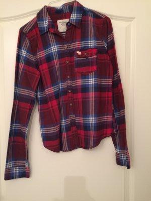 Rot blau weiß kariertes Holzfällerhemd von a&f