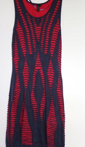 Rot-Blaues Kleid NEU, enganliegend