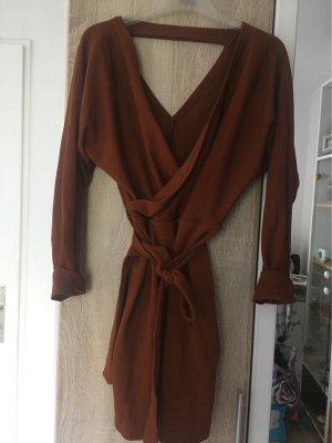 Amazone Wollen jurk roodbruin