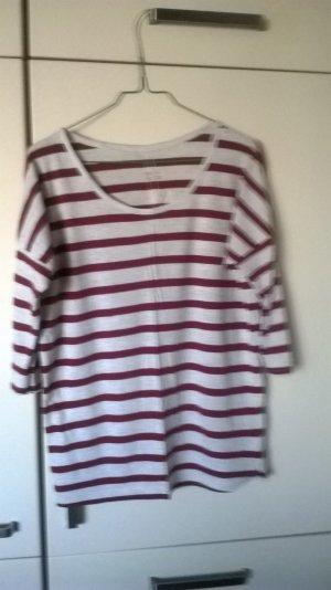 rot - cremefarben gestreiftes Shirt
