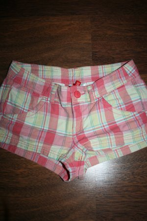rot/gelb/orange karierte Stoff Hot Pant