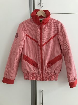 Roxy Between-Seasons Jacket bright red-white cotton