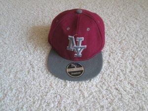 Baseball Cap dark red-silver-colored cotton