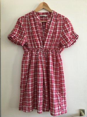 Rot-karierte Bluse von Zara in Größe L