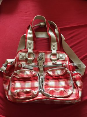 George Gina & Lucy Shopper white-red