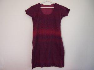 Camicia lunga carminio Cotone