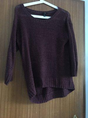 H&M Pullover all'uncinetto rosso mora