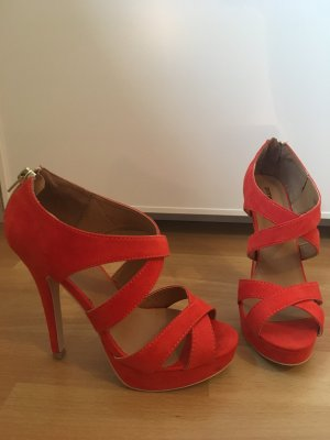 Rot orangene High heels