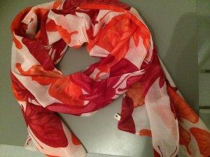 rot oranges Tuch / Schal mit Schmetterlingen von Tom Tailor